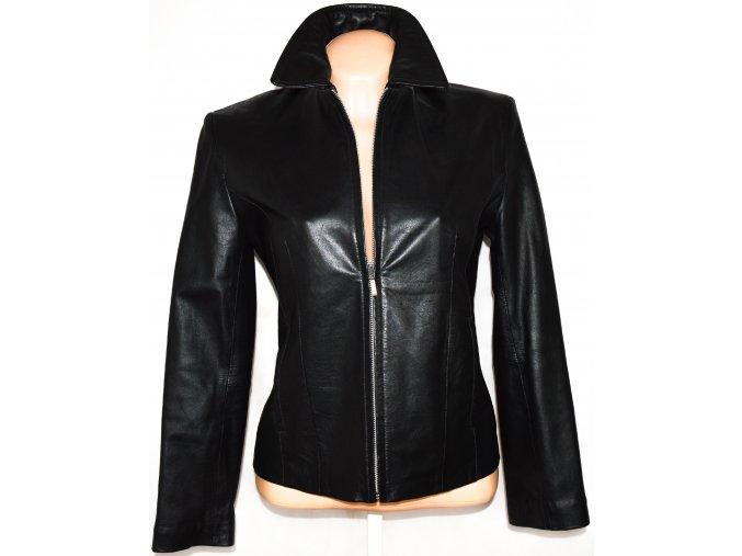 KOŽENÁ dámská měkká černá bunda na zip TEODEM M