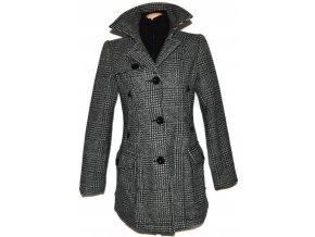 Vlněný dámský šedočerný kabát Street One M
