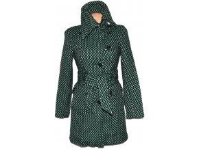 Dámský zelený kabát s páskem ORSAY 36