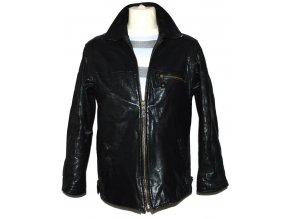 KOŽENÁ pánská černá bunda na zip CERO M