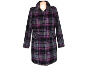 Vlněný dámský fialový kabát Bonprix L, XXXL