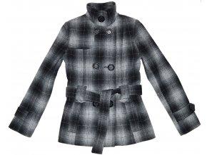 Vlněný dámský kabát s páskem Monica XS