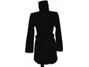Vlněný dámský černý kabát s páskem F&F 40