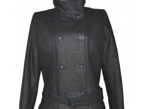 Vlněný dámský šedý kabát s páskem F&F 40