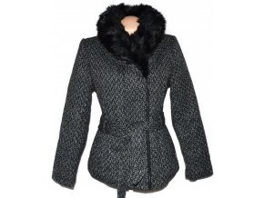 Dámský zateplený kabát - křivák s kožíškem COEXIS 38, 44