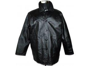 KOŽENÁ pánská černá měkká bunda UNION RIVER L, XL