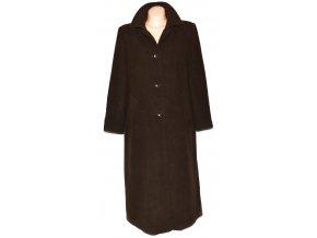 Vlněný dámský dlouhý hnědý kabát Ashley Brooke XXL (vlna, kašmír)