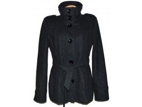Vlněný dámský šedý kabát s páskem ORSAY XL