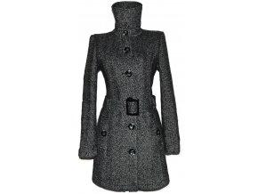 Vlněný dámský melírovaný kabát s páskem TOM TAILOR L
