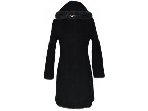 Vlněný dámský kabát s kapucí Depeche L