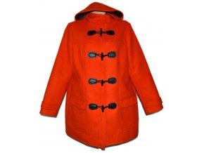 Dámský oranžový kabát s kapucí F&F XXXL 44