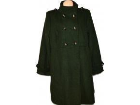 Dámský khaki zelený kabát GEORGE
