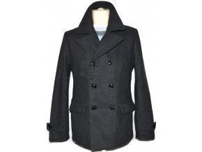 Vlněný pánský šedý kabát H&M S 22