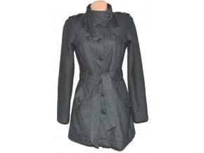 Vlněný dámský šedý kabát s páskem ONLY M