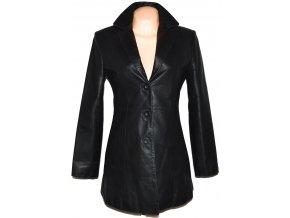 KOŽENÝ dámská černý měkký kabát Different S