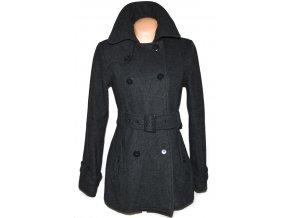 Vlněný dámský šedý kabát s páskem Philip Russel M