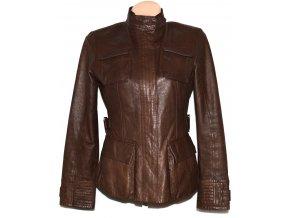 KOŽENÁ dámská hnědá měkká bunda na zip NEW LOOK M