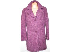 Vlněný (80%) dámský fialový kabát KLASS UK 18/ XXL