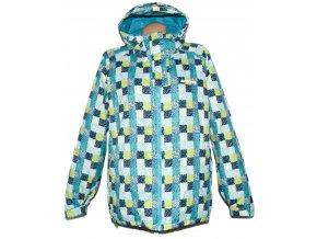 Dámská lyžařská modrá kostkovaná bunda ALPINE PRO LXL