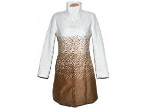Dámský hnědobílý kabát na cvoky BPC 1238