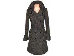 Dámský hnědý dlouhý kabát s páskem TOPSHOP 1038 3