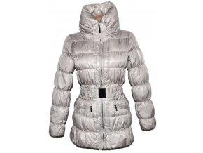 Dámský béžový šusťákový kabát s páskem AMISU 34 3
