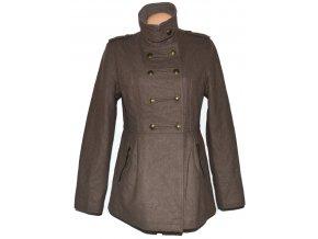 Vlněný dámský hnědý kabát Orsay L