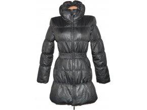 Dámský šusťákový šedý kabát s páskem ONLY S