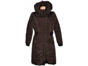 Dámský hnědý dlouhý šusťákový kabát L 2