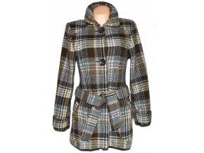 Vlněný dámský károvaný kabát s páskem TATUM L