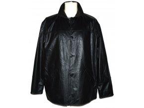 KOŽENÁ pánská černá měkká bunda Evoco XL