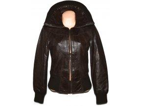 KOŽENÁ dámská hnědá bunda na zip VERO MODA 2