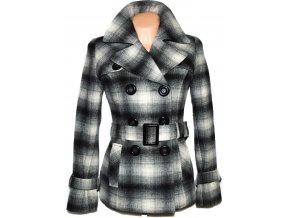 Vlněný dámský kostkovaný kabát s páskem ORSAY
