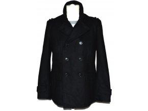 Vlněný pánský černý kabát H&M 3