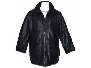 KOŽENÁ pánská černá měkká bunda na zip M.Flues
