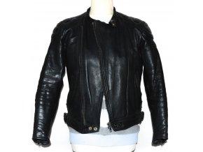KOŽENÁ motorkářská černá bunda XS