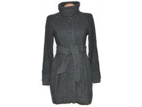 Dámský šedý kabát s páskem ORSAY 36