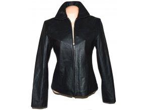 KOŽENÁ dámská černá měkká bunda na zip MARTINEK M