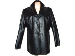 KOŽENÝ dámský černý měkký kabát DIFFERENT XXL 2