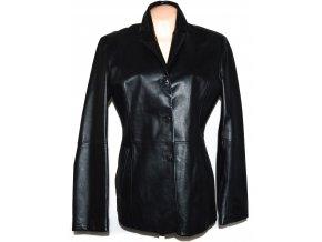 KOŽENÝ dámský černý měkký kabát DIFFERENT