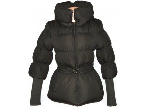 Dámský khaki šusťákový kabát s páskem AMISU 38
