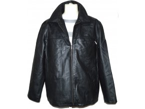 KOŽENÁ pánská černá bunda na zip John F. Gee XL