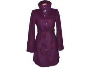 Vlněný dámský fialový kabát s páskem ORSAY L
