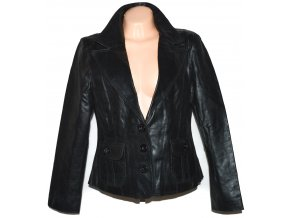 KOŽENÉ dámské černé sako Fashion XL