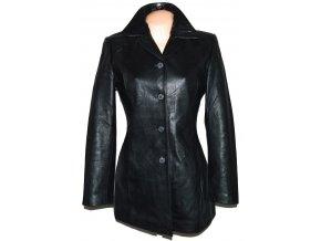 KOŽENÝ dámský černý měkký kabát Barney's M