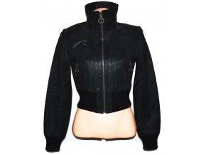 KOŽENÁ dámská černá bunda na zip Epilogue M