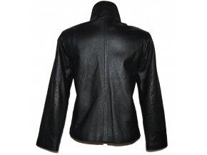 KOŽENÁ dámská černá měkká zateplená bunda na zip PARIS M/L