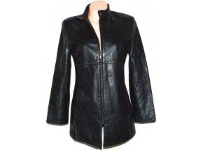 KOŽENÝ dámský černý měkký kabát na zip CERO M