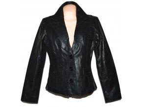 KOŽENÉ dámské černé sako Fashion L/XL