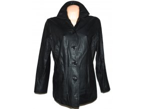 KOŽENÝ dámský černý měkký kabát Wilsons Leather XL